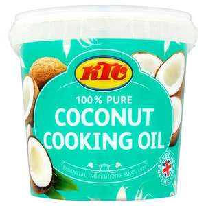 1 ltr KTC 100% Pure Coconut Cooking Oil now £3 @ asda instore & online