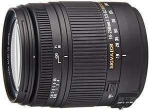 Sigma 18-250 mm f/3.5-6.3 DC Macro OS HSM Lens £187 for Nikon (Amazon.fr)