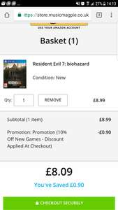Resident Evil 7: Biohazard (Brand New) - PS4 - £8.09 @ Music Magpie