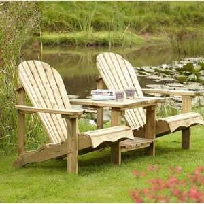 Rowlinson Adirondack Companion Seat £149.99 delivered @ Garden street