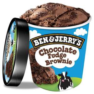 Selection of Ben & Jerrys ice creams for 2 for £5 (or £3.50 each) @ Farmfoods