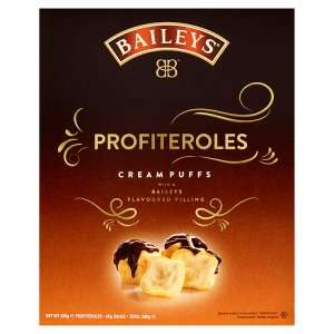 Baileys filled profiteroles and eclairs £2 each or 2 for £3 @ Iceland