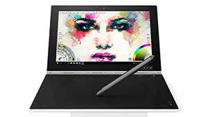 Lenovo Yoga Book 25.5 cm (10.1 inch Full HD IPS TouchScreen) Convertible Tablet (Quad Core, 4GB RAM, 128GB eMMC, Wi-Fi, Windows Z8550 10 Pro including Halo Keyboard and Real Pen @ Amazon.de delivered