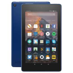 "New Amazon Fire 7 Tablet with Alexa, Quad-core 7"", Wi-Fi, 8G , 2 years gurrantee included with Special Offers, Marine Blue £34.95 @ John lewis (+ £3.50 p&p or £2.00 c&c)"