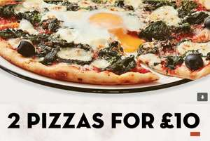 Date night sorted! 2 main courses (pizzas, salads or pasta) for £10 - today at Pizza Express