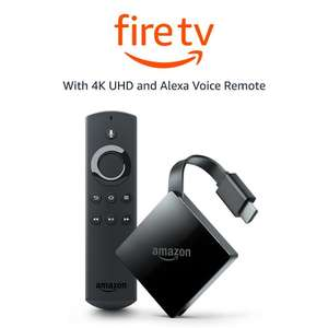 Fire TV with 4K Ultra HD and Alexa Voice Remote (Pendant Design) | Streaming Media Player - £59.99 @ Amazon