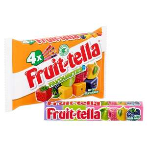 Fruit-Tella (4Pk x 41g) 59p @ Tesco