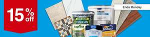 15% off all paint, wood care, tiles and flooring from the 25/5 @ Wickes