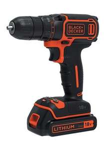 Black and Decker 18V Li-ion Drill £34.99  with free delivery with code @ Studio