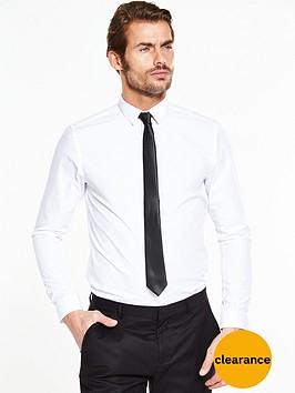 White Long Sleeve Slim  Shirt - £4.50 @ Very