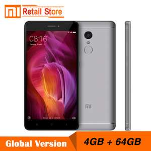 Global Version Xiaomi Redmi Note 4 4GB 64GB Snapdragon 625 B20 (800Mhz) 4G LTE - £124.08 @ Xiomi Store / Ali Express