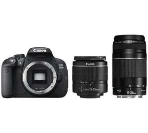 Canon EOS 700D DSLR Camera And 18 55mm 75 300mm Lenses GBP