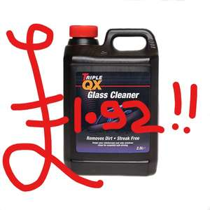 24/5 New Item | Triple QX Glass Cleaner | Interior & Upholstery Cleaner | Alloy Wheel Cleaner all 2.5ltr | -79% offer -12% code* + FREE DEL -3.15% tcb ((tracked)) £1.92! @ CarParts4Less