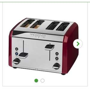 Waring Four Slice Toaster Red at Dunelm for £24