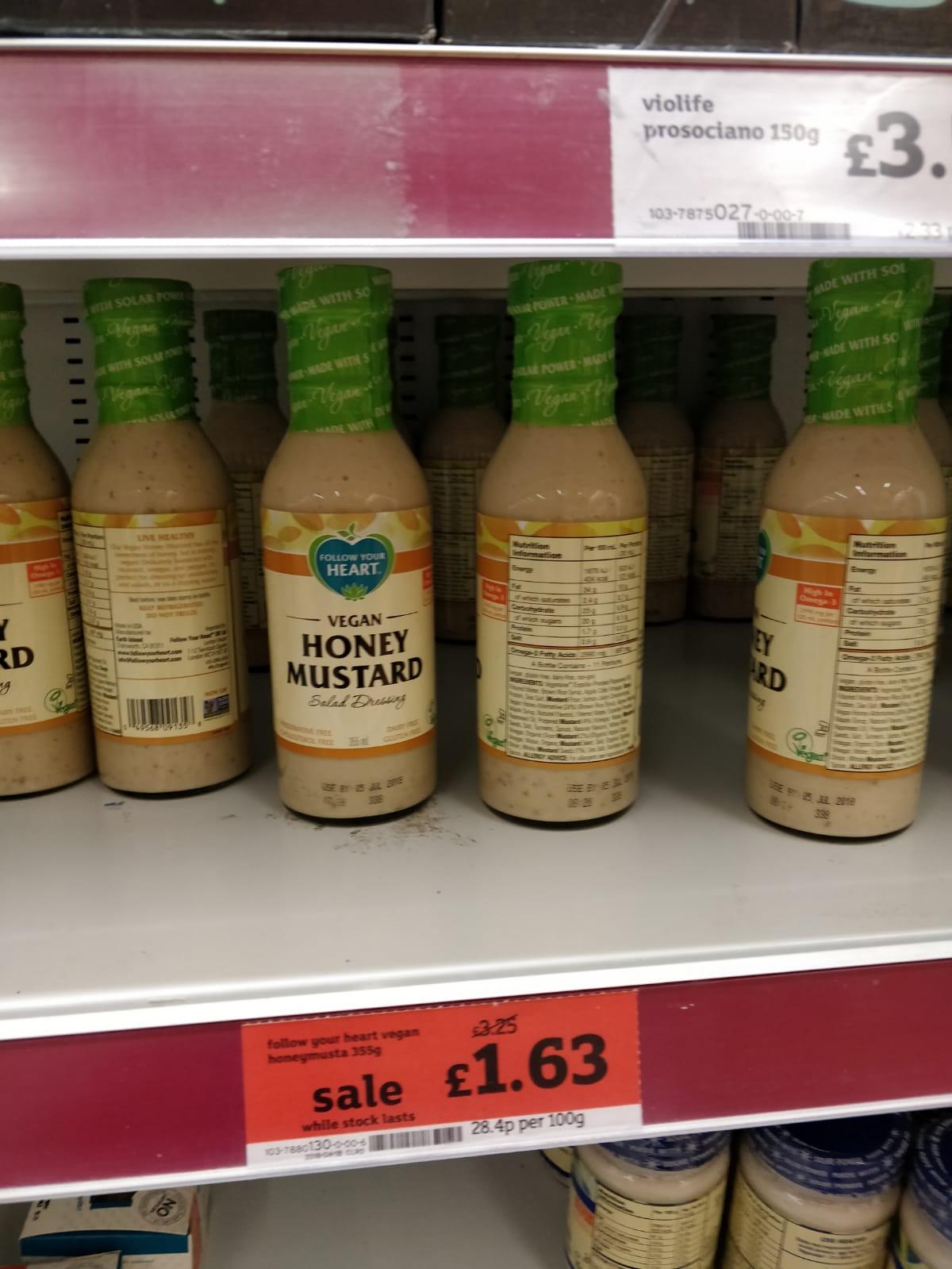 Vegan Honey Mustard - Follow Your Heart - Pricing Error 50p at Sainsburys instore