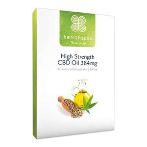 £5 off CBD High strength 30 Capsules (Small Pack) with code @ Healthspan