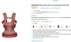 BABYBJÖRN Baby Carrier One in Black / Pink / Grey - £76.49 @ Amazon