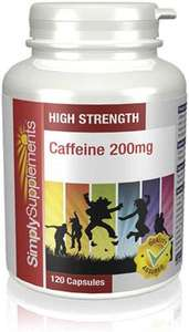 Caffeine supplements 200mg 120 capsules £2.80 delivered @ Simply supplements