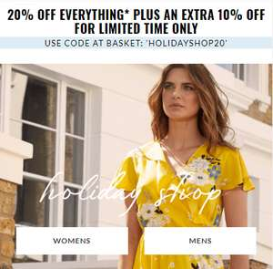 20% off everything, plus an extra 10% off for a limited time only @ BHS