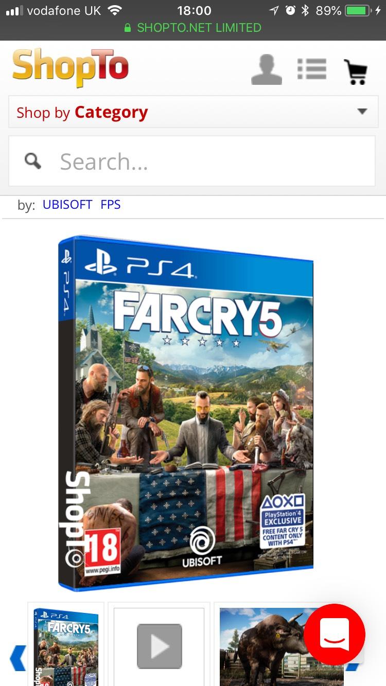 Far Cry 5 £34.85 @ ShopTo