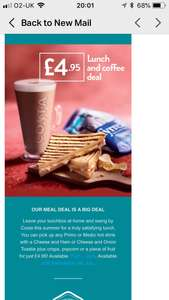 COSTA Meal deal £4.95