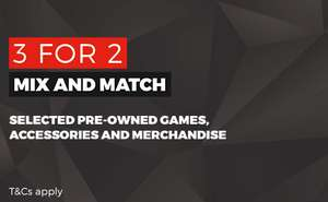 3 for 2 on GAME merchandise, more in description, from £1.25 - at GAME
