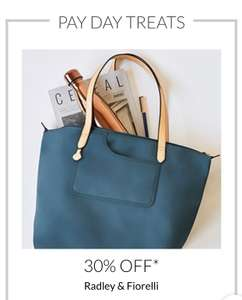 Debenhams Pay Day Offer Radley & fiorrelli up to 30%