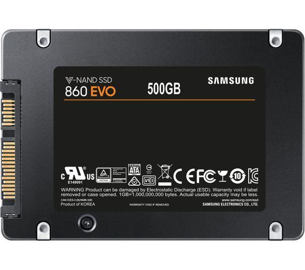 Samsung Evo 860 500GB SSD £119.99 Currys