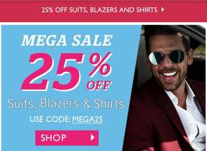 25% OFF Suits, Blazers and Shirts at Dobell Menswear + Free Delivery