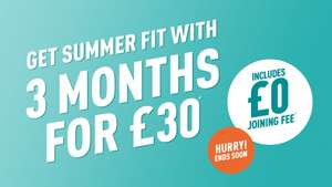 Puregym 3 months for £30