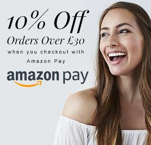 Gorgeous Shop an extra 10% off orders over £30 when paying with Amazon Pay. Ultrasun, SkinnyTan, Wella, AustralianBodycare, OPI, already have 20-30% off