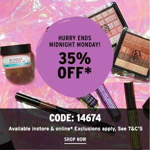 35% off Full Price Products with Code @ The Body Shop