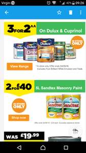 3for2 on Dulux & Cuprinol in store only @ Homebase