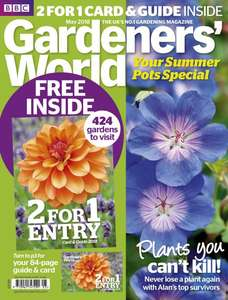 Get 2 for 1 Entry at 424 Gardens Around the UK with Gardeners World Magazine £5.99 @ Mags Direct