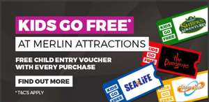 GET A FREE KIDS TICKET TO THORPE PARK, SHREK'S ADVENTURE, AND OTHERS WITH GAME! When you make any purchase @ game