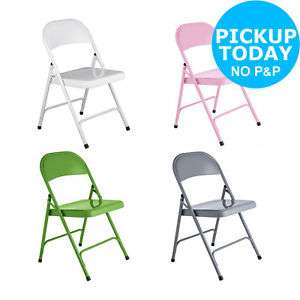 Habitat Macadam Metal Folding Chair - Choice of Colour :The Official Argos Store £9 / £12.95 delivered