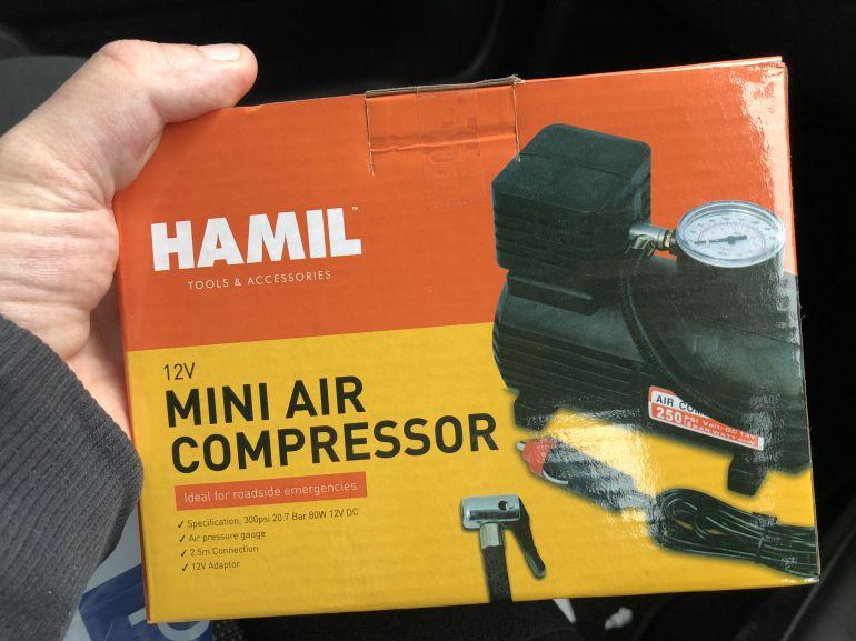 12v mini air compressor poundworld plus (Hull King Edward Street) £2.50