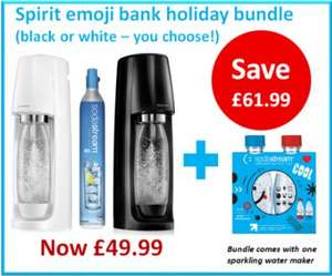 Sodastream Spirit, gas cylinder plus Emoji bottles - £49.99 + £3.99 P&P @ Sodastream