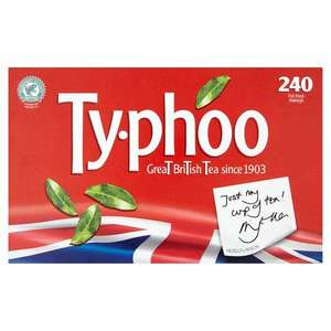 Typhoo 240 Foil Fresh Teabags reduced to £2.50 @ Asda