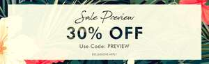 30% off Preview Sale with Code @ My Bag