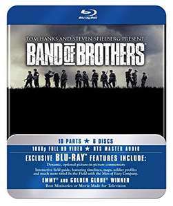 Band Of Brothers - The Complete Series (Commemorative 6-Disc Gift Set in Tin Box) [Blu-ray] 2010 £14.26 Prime / £16.25 Non Prime @ Amazon