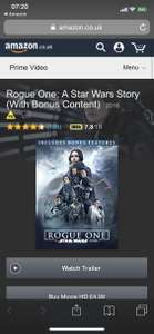 Buy Star Wars Rogue One in H/D £4.99 @ Amazon Video