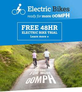 Free 48hr trial of electric bike from Halfords.