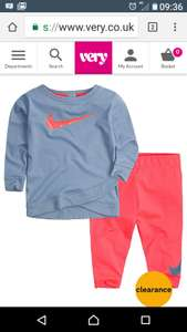 Baby Girls Nike outfit £13.75 C+C at Very