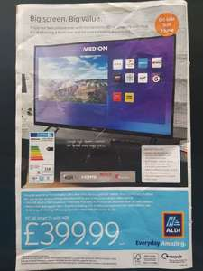 "Medion 55"" 4K Smart TV - £399.99 at Aldi (available from 3rd June)"