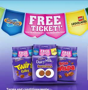 MERLIN  2for1 Cadburys FREE ticket promotions back!