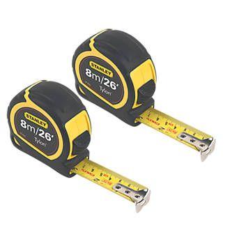 2 x Stanley Tylon 8m Tape Measures £9. 99 @ Screwfix