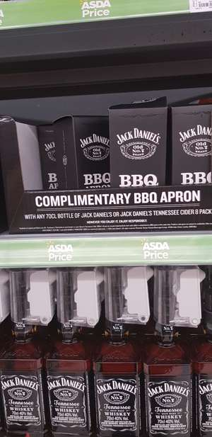 Free Jack daniels apron instore at Asda with any purchase of JD (70cl bottle/ 8 ciders)