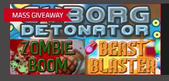 Cyborg Detonator + Beast Blaster + Zombie Boom (3 Free Games) [PC - STEAM] - Free @ Indiegala