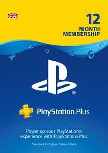 PlayStation Plus 12 months 25% off at PSN Store UK £37.49 or £32.80 using credit purchased from CDkeys